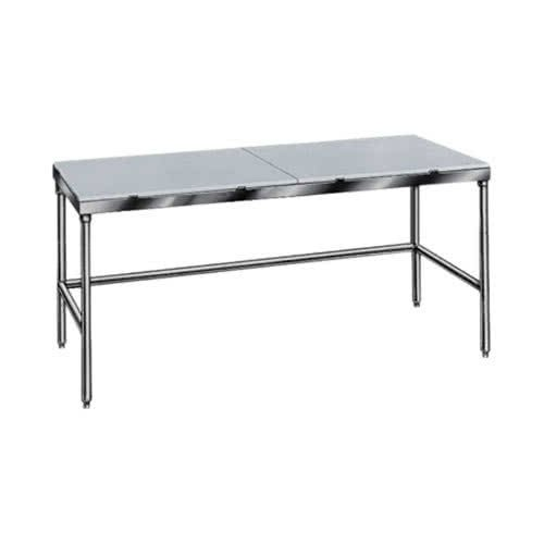TableTop King TSPT-246 Poly Top Work Table 24'' x 72'' - Open Base by TableTop King