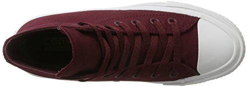 Hombre Ii navy Para Ct white deep Sneakers Bordeaux Rojo Converse Hi af1qwU