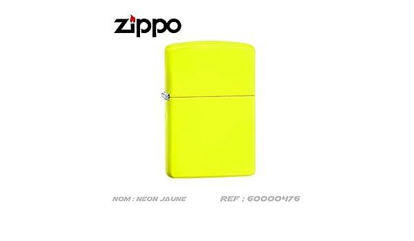 Encendedor Zippo amarillo neon con Coffret Nr 60000476: Amazon.es ...