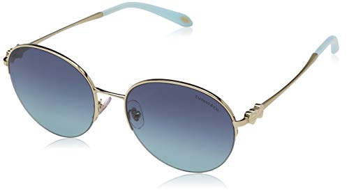 Tiffany & Co.TF3053 - 60219S Pale gold Sunglasses w/ Azure gradient blue Lens ()