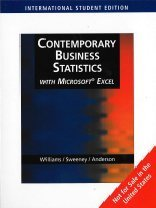 Contemporary Business Statistics with Microsoft Excel: With CD-Rom and Infotrac