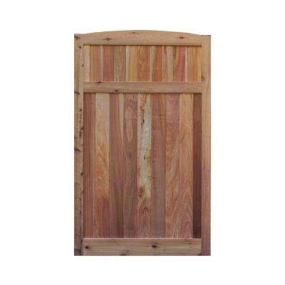 Signature Development 3.5 ft. H W x 6 ft. H H Western Red Cedar Arch Top Solid Lattice Fence Gate (Lattice Gate)