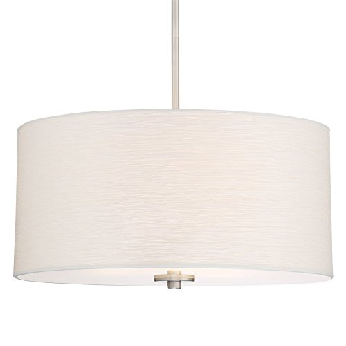 Drum Pendant Light White Shade in US - 1