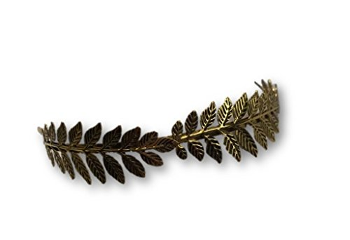 Gold Metal Laurel Leaf LeavesWreath Roman Men Greek God Goddess Headband Caesar (Gods And Goddess Costumes)