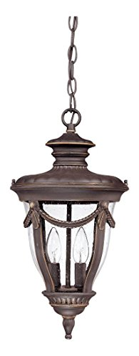 - Philippe - 2 Light Hanging Lantern W/ Seeded Glass