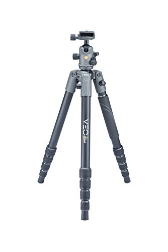 Vanguard VEO2S265ABQS Travel Tripod with Ball Head, Smart Phone Holder, Spiked Feet, Monopod Option, Extra Quick Release Plate