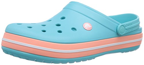 Crocs Crocband Clog, Zuecos con Correa, Unisex Azul (Pool/Melon)