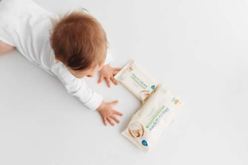 Aqua Wipes Baby Wipes 12 x 12 Wipe Travel Packs 144 Wipes 100/% Biodegradable,