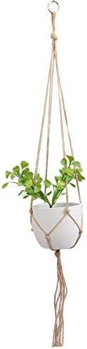 Demarkt Pflanzenaufhänger Makramee Blumenampel hängend Blumentopf mit Baumwollseil Blumenhänger Pflanzhänger für Innen Außen Decken Balkone Wanddekoration