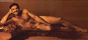 Burt Reynolds Nude on a Bear Skin Rug Photograph 5