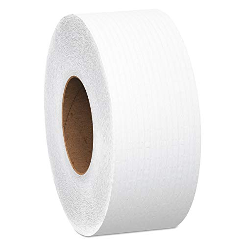 Dispensers Paper Toilet Scott - Scott Essential Jumbo Toilet Paper (07304), High Capacity JRT Commercial Toilet Paper, 2-Ply, White, 750' / Roll, 12 Rolls / Case