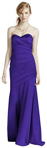 Long Strapless Stretch Satin Bridesmaid Dress Style F15586 – Regency