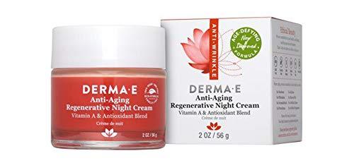 Derma-E Anti-Aging Anti-Wrinkle Regenerative Night Cream With Vitamin A and Antioxidant Blend 2oz - Age Defying New Improved Formula