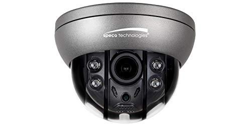 - Speco O4FD5M Dome Camera 4MP, Flexible, IP, IR, WDR, Day/Night, H.265, 2592 x 1520 Resolution, Motorized 2.8 to 12 MM Lens, 12 Volt DC 6 Watt, PoE