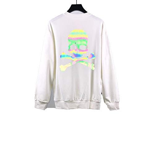 fgtUGFCH2694 Japan Mastermind Hoodies Men Women 3M Reflective Streetwear Sweatshirt White (Mastermind Japan Clothing)