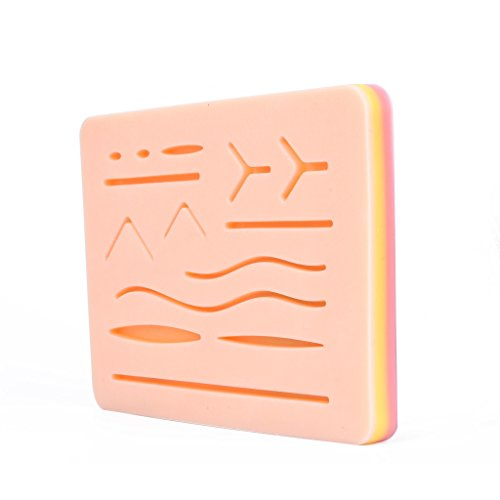 "Suture Training Kit Suture Pad 7"" x 5"" for Practice and Training Use