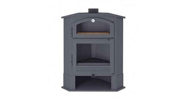 Estufa de leña de rincón con horno. Modelo CH-4 R: Amazon.es: Bricolaje y herramientas