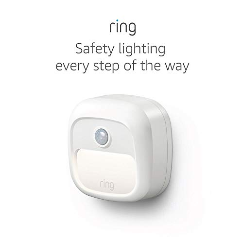 Ring Smart Lighting – Steplight, Battery-Powered, Outdoor Motion-Sensor Security Light, White (Ring Bridge required)