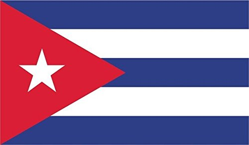 JMM Industries Cuba Flag Vinyl Decal Sticker Cuban Car Window Bumper 5-Inches by 3-Inches Premium Quality UV Resistant Laminate PDS009