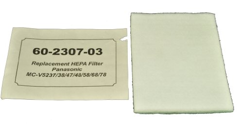 Panasonic Upright Vacuum Cleaner Filter Fits: MC-V5237, 38, 47, 48, 58, 68, 78