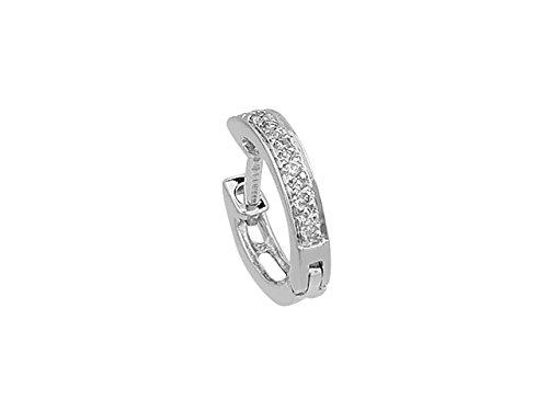 Boucle d'Oreille Diamants Pour Hommes-Femme- or Blanc 205E0019