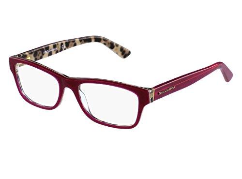 Dolce&Gabbana ENCHANTED BEAUTIES DG3208 Eyeglass Frames 2882-52 - Top Opal Bordeaux/Leo by Dolce & Gabbana (Image #1)