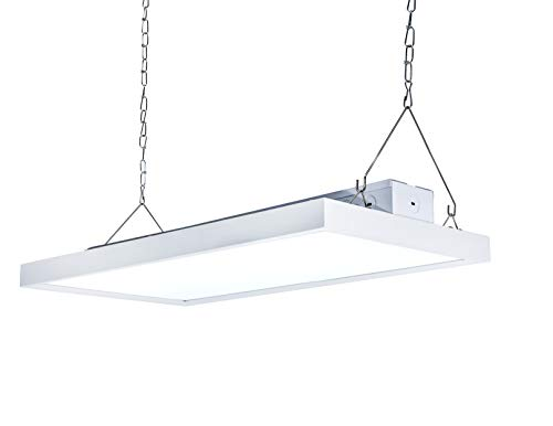Parmida 2FT LED Linear High Bay Shop Light, 105W (400W MH/HID Equiv.), 13440lm, 0-10V Dimmable, UL & DLC 4.2, Commercial Industrial Warehouse Lighting, 5000K, Hanging Chain Included