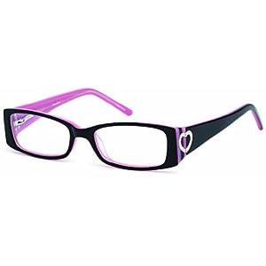 Childrens Cute Heart Prescription Eye Glasses Frames in Black