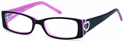 Childrens Cute Heart Prescription Eye Glasses Frames in Black