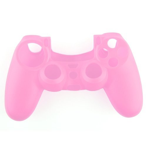 SODIAL(R) Soft Silicone Gel Protective Skin Cover Case for PS4 Controller Pink