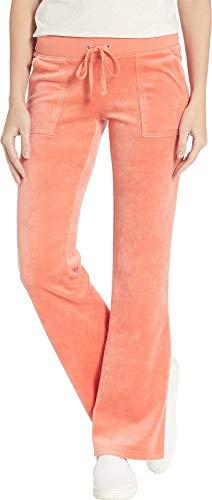Juicy Couture Women's Del Rey Velour Pants Dusty Terracotta Large ()