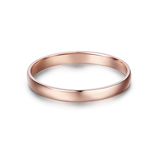 14k Gold 2mm Light Comfort Fit Classic Plain Wedding Band