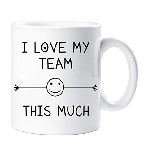 I Love My Team This Much Mug Friend Colleague Office Employee Secret Santa Birthday Gift Christmas Novelty Humour Funny