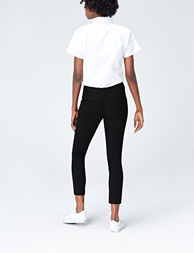 FIND Pantalón Entallado Con Bolsillos de Cremallera para Mujer Negro (Black)
