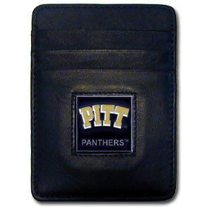 Siskiyou NCAA Pittsburgh Panthers Leather Money Clip/Cardholder (Pittsburgh Leather Panthers)