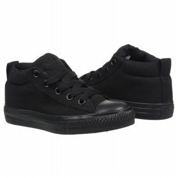 Converse Kids' Chuck Taylor Street Mid Sneaker Pre/Grade School (Black Monochrome 12.0 M)
