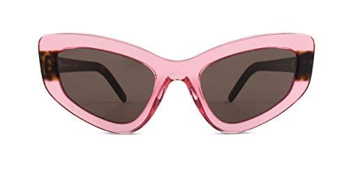 (Prada Women's 0PR 11VS Transparent Pink Flouro/Brown One Size)