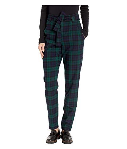 Pendleton Women's Tartan Belted Trousers, Black Watch 10