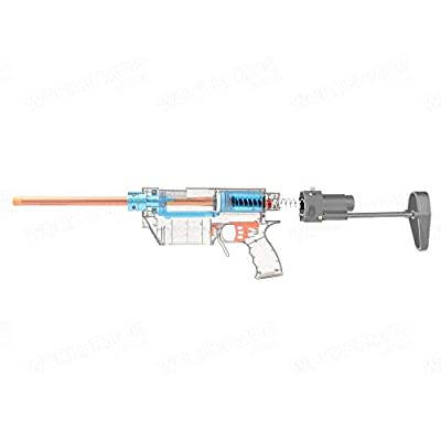 WORKER 25N Long Spring Upgrade Spring for Prophecy Retaliator Shell Set Color Silver: Toys & Games