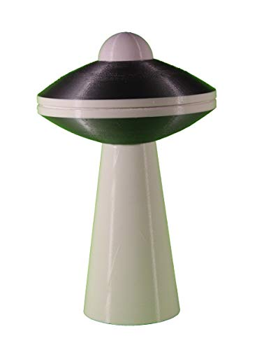 TheZeeAxis UFO with Tractor Beam, UFO SciFi Lamp with LED, Saucer