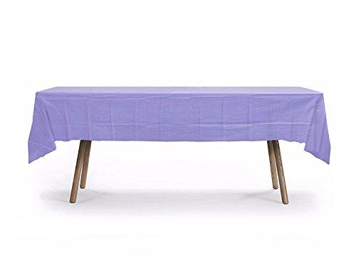 10 Pack Rectangular Table Cover, Premium Plastic Tablecloth, Plastic Table Cover Reusable (Lavender)