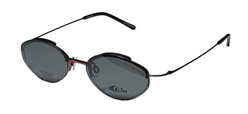 New & Season & Genuine - Brand: Elite Eyewear Style/model: Evolite 101 Gender: Mens/Womens Vision Care Brand Name Designer Half-rim Sunglass Lens Clip-Ons Eyeglasses/Eye Glasses (47-18-135, - Eyeglasses Name Brand Top