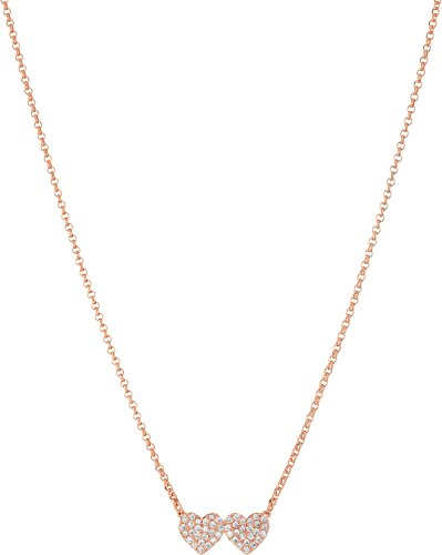 kate spade new york Pave Heart Mini Rose Gold Pendant - Kate Spade Gold Rose