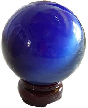 Fortune Telling Toys Crystal Balls Divination Tool See The Future 75mm Blue Cats Eye