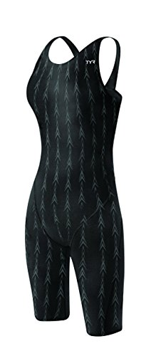 (TYR Women's Fusion 2 Short John Swim Suit, Black, 30)