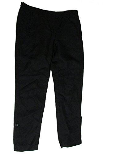 Silk Linen Pants - DKNY Pure Women's Roll Up Pants Capri Linen Silk Black Petite