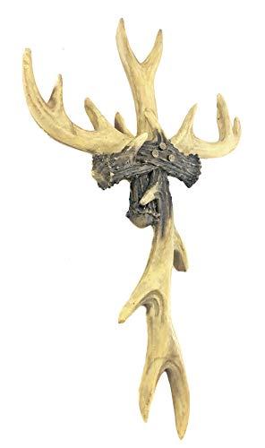 Bellaa 23110 Antler Wall Cross Rustic Deer Lodge Cabin Decor 14