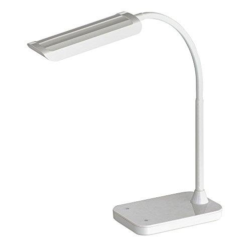 (Safco Products 1005WH Mini Vamp LED Desk Lamp, White)