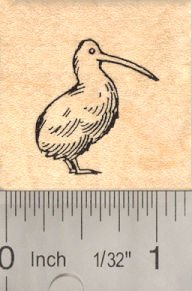 Rubber New Large Stamp - Small New Zealand Kiwi Rubber Stamp, Bird