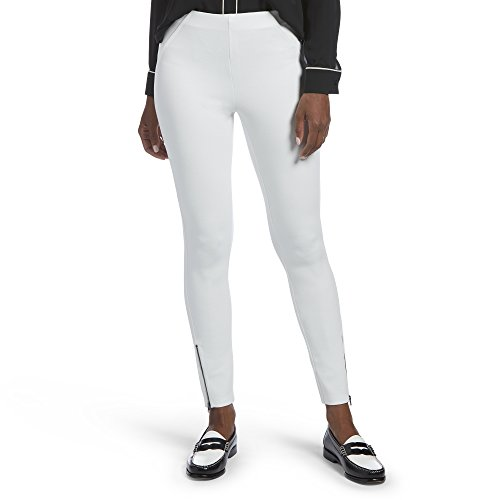 p Simply Stretch Twill Skimmer Leggings, White, XL ()
